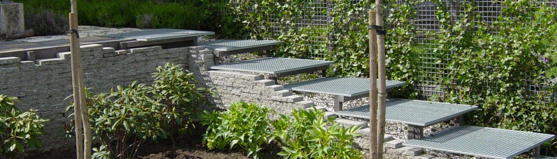 trap gemaakt in tuin - de knegt hoveniers